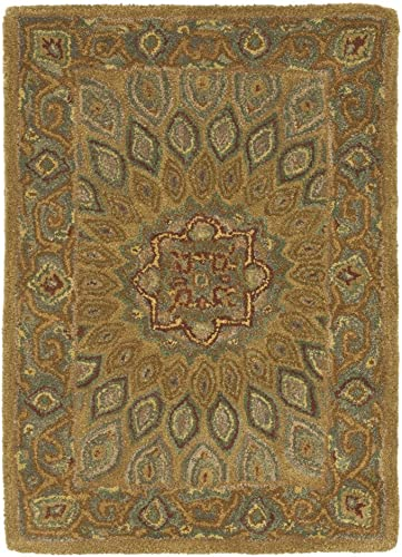 Safavieh Heritage Light Brown Grey Rug Rug Size Round 6