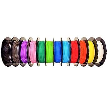 Filamento AIO Robotics Premium para impresoras 3D, PLA, 12 x 0,5 ...