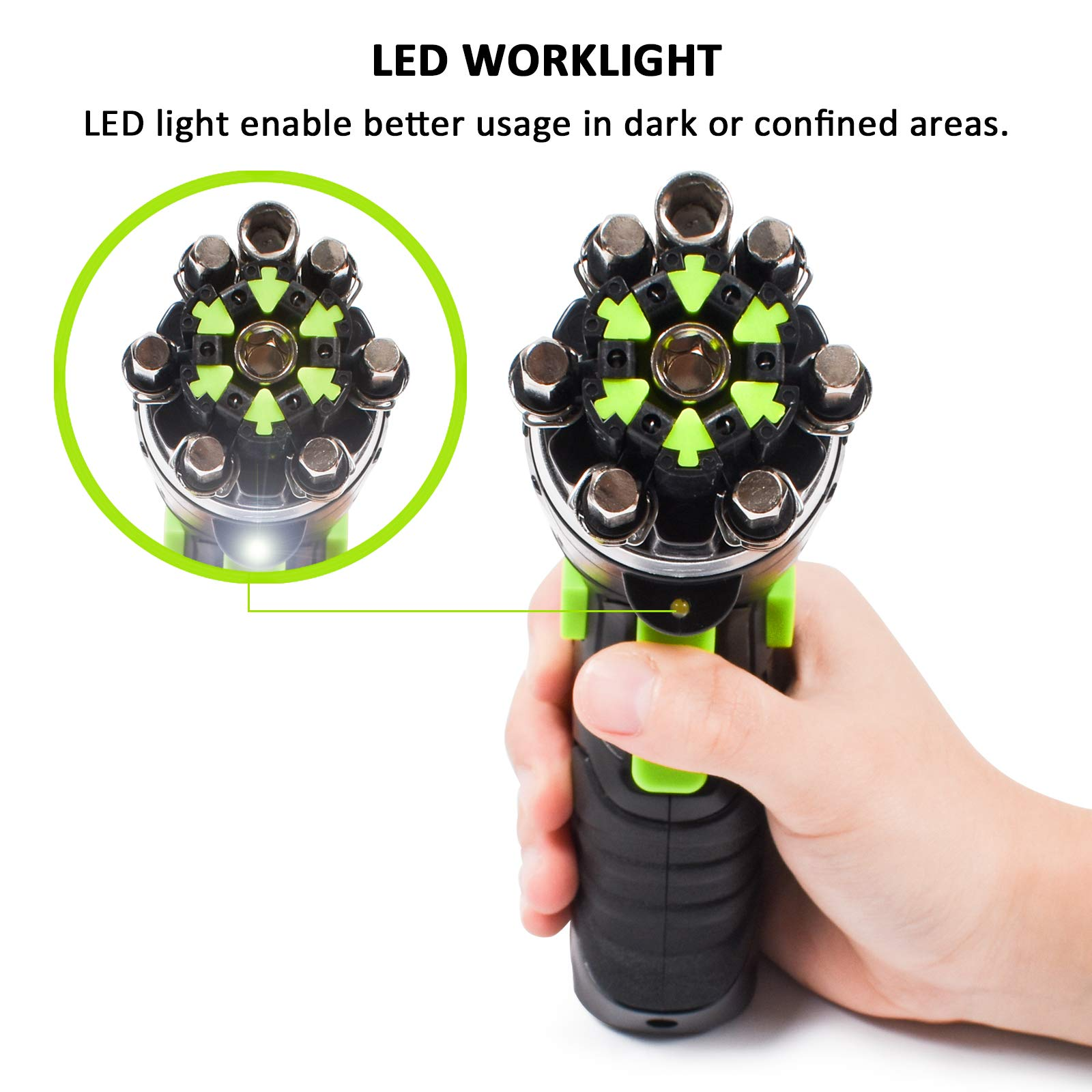 Cordless Screwdriver, HAWKFORCE 3.6V Cordless Rechargeable Screwdriver - Flexible Pivoting Head - Adjustable 2 Position Handle - Front LED Light Power Screwdriver with Bubble Level