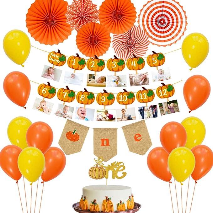 Pumpkin Birthday Decorations.Pumpkin Birthday Banner Pumpkin turning One .Girl First Birthday Pumpkin 1st Birthday high Chair Banner.