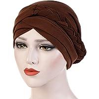 Antjoint Chemo Cancer Head Hat Cap Ethnic Bohemia Pre-Tied Twisted Braid Hair Cover Wrap Turban Headwear
