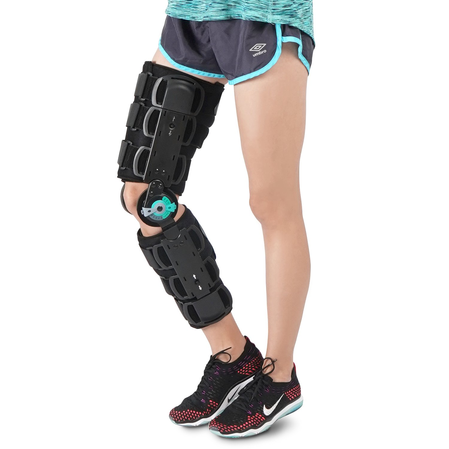 Soles Universal Hinged Knee Brace Telescoping Rom Orthosis Knee Brace, Adjustable Leg Stabilizer – Post Operative Injury Support for ACL, PCL, MCL or LCL - One Size Fits Most - Unisex by Soles