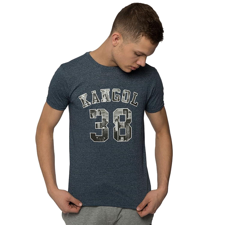 Neue Männer Kangol Stadt bedruckt Rundhals Premium Qualität Kurzarm T Shirt Top