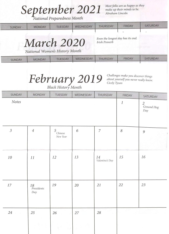Calendar Year 2020.Pocket Calendar 3 Year 2019 2020 2021 Pocket Calendar Planner Set Of 5 Planner Set Of 5
