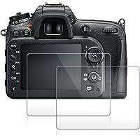 AFUNTA Protector de visualización para cámara Nikon D7100D7200D600D610, D850, Anti-arañazos 9H LCD de Vidrio Templado (2Unidades)