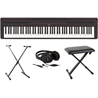 YAMAHA P-45 Digital Piano Package With X-Stool, X-Stand, Headphones