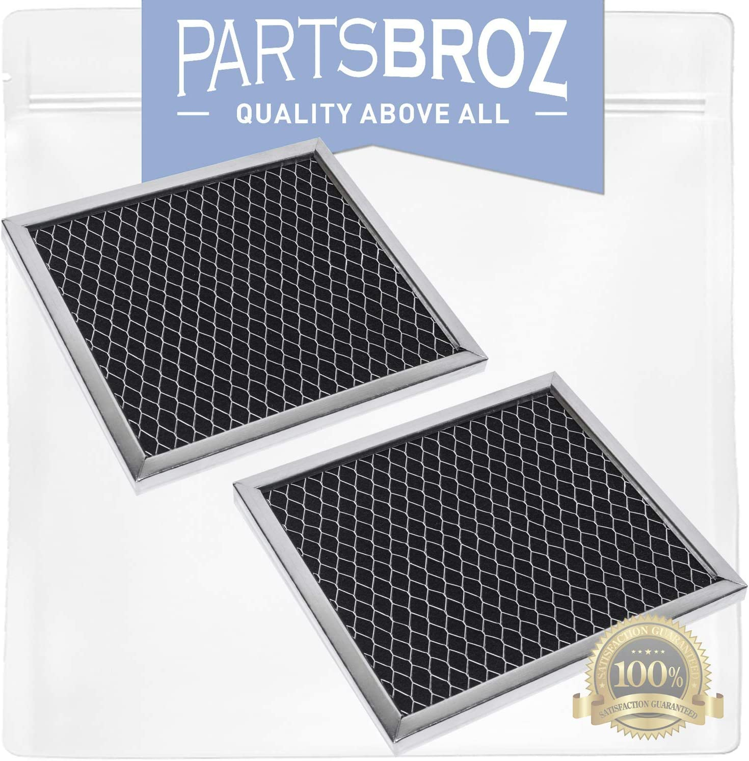 8206230A (2-Pack) Charcoal Filters by PartsBroz - Compatible with Whirlpool Microwaves - Replaces AP4299744, 1266639, 8206230, 8206230ARP, AH1871363, EA1871363, PS1871363