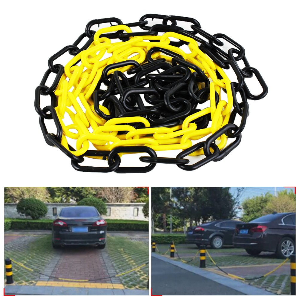 Plastic Barrier Chain Lock Parking Commercial Safety For Traffic Stand Warning Isolation Stop 4 M/ 4.37 Yd Column Road Stake Comaie