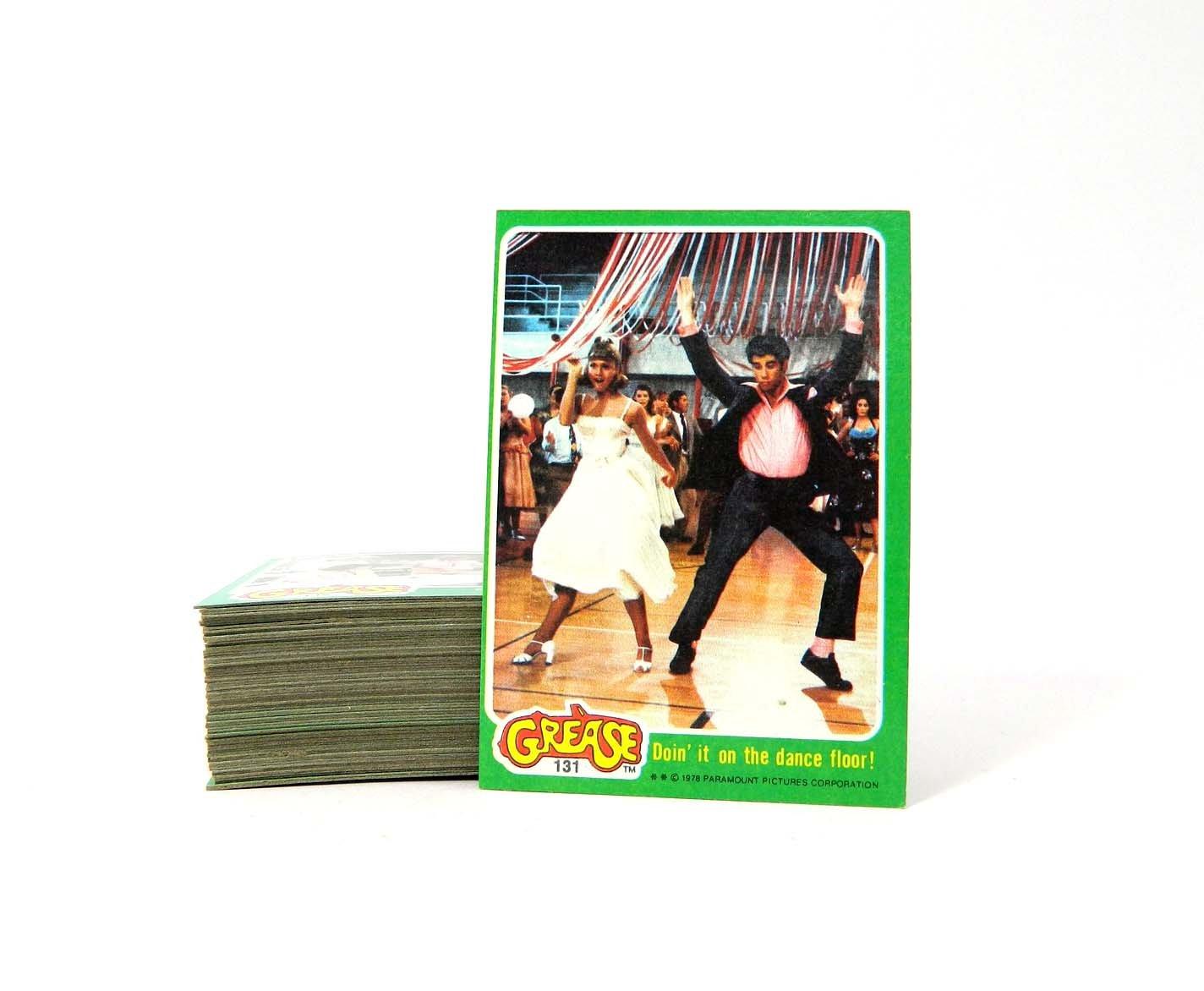 1978 Topps Grease Series 2 Trading Card Set (66) Near Mint/Mint Featuring John Travolta Olivia Newton-John
