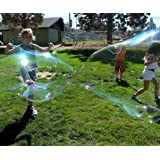 4 BUBBLE WANDS FOR MAKING BIG BUBBLES FOR KIDS. Great Party Favors. Each Wand Is A Giant Bubble Maker. Awesome Backyard Bubble Blower Toys. Bubble Liquid Not Included.