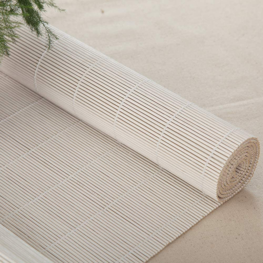 LETAU Wood Window Roller Shades, Bamboo LightFilteringWindow Blinds for Indoor Home, Office, Kitchen, Pattern 11