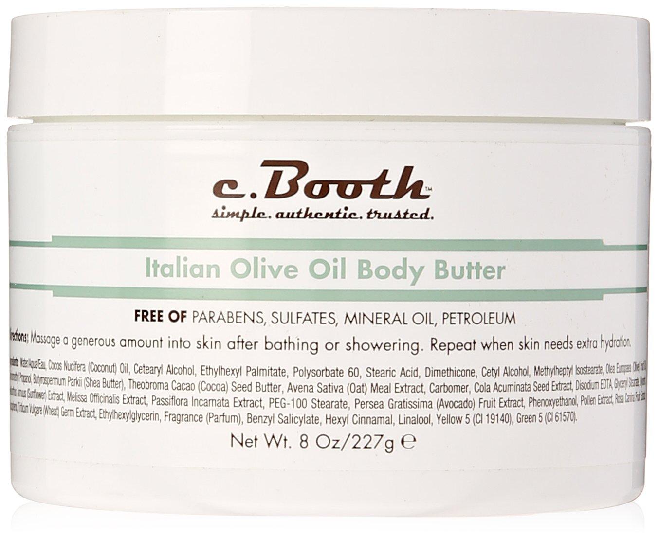 c.Booth Italian Olive Oil Body Butter, 227 Grams 72151801218