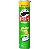 Pringles Galaxy Potato Chips, Sour Cream and Onion, 147g