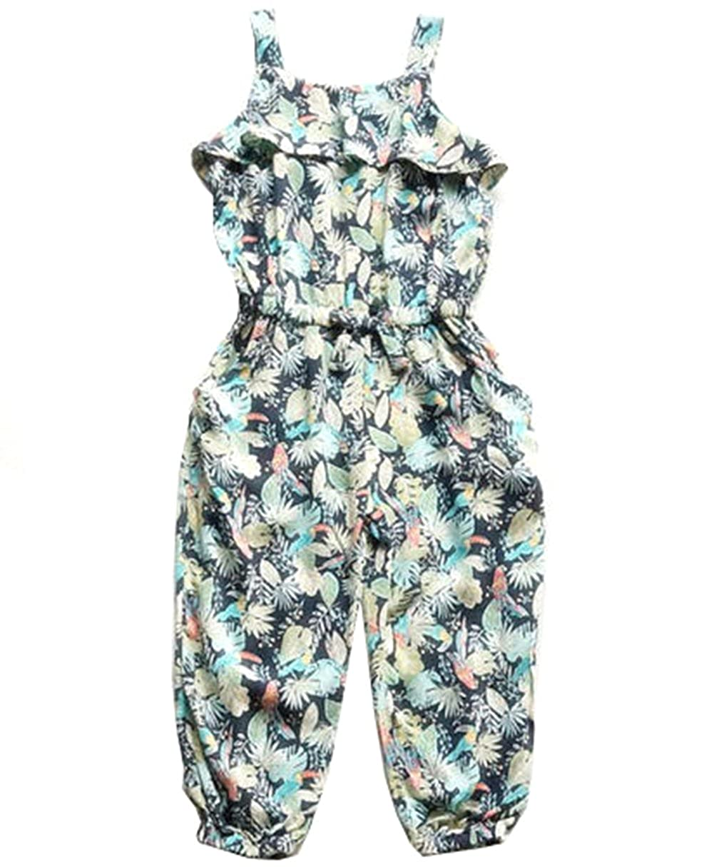 Baby Girls Jumpsuits Toddler Floral One Piece Romper