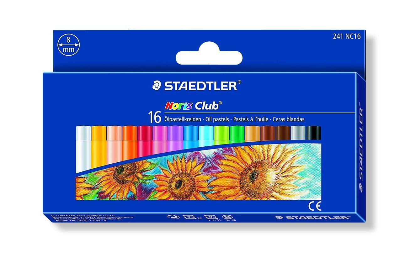 Staedtler 241NC16 - Ceras blandas, Caja con 16 colores surtidos 241 NC16 ST