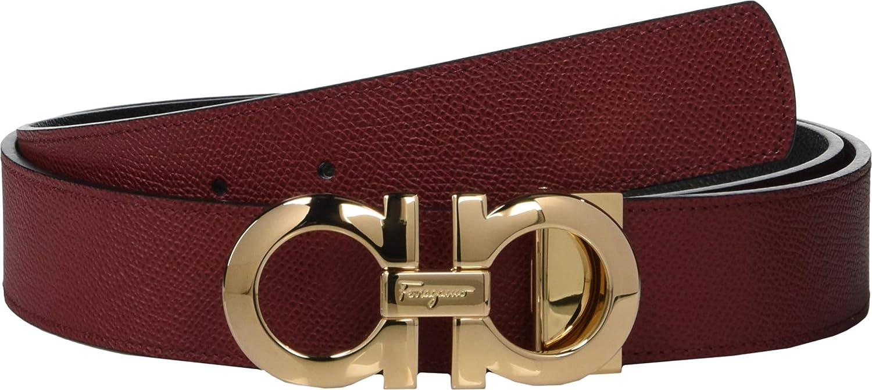 515db95b0bf1 Amazon.com  Salvatore Ferragamo Men s Reversible Adjustable Belt - 675542  Red Black 38  Clothing