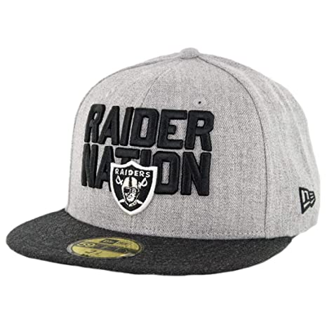 cacb67f7a Image Unavailable. Image not available for. Color  New Era 5950 Oakland  Raiders Raider Nation Fitted Hat (HGY HBK) NFL Cap