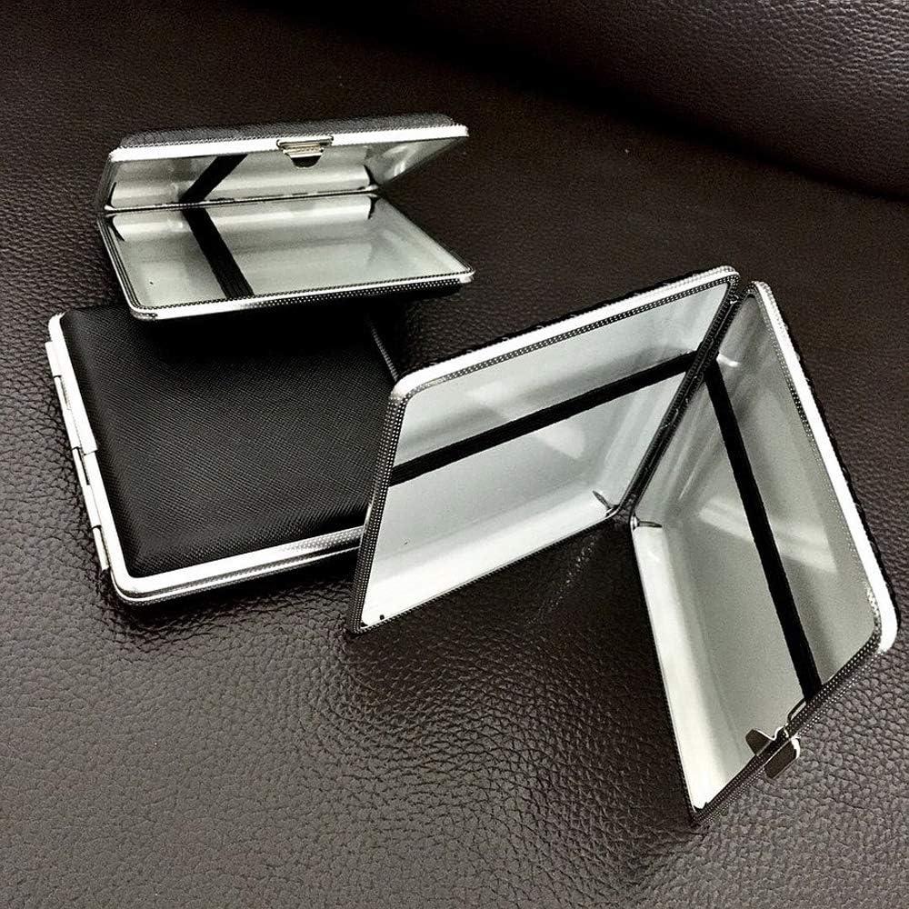 SSOLEREIT Caja de Cigarrillos de Cuero metálico 20-Pack de Moda 1PC Personalidad Creativa Honorable Cigarrillo automática (Color : Si)