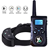 Dog Training Collar with Remote,Fiddy Dog Shock Collar for Puppy Small Medium Large Dogs,Waterproof Rechargeable Bark E Collar with 3 Training Modes   Beep/Vibration/Shock