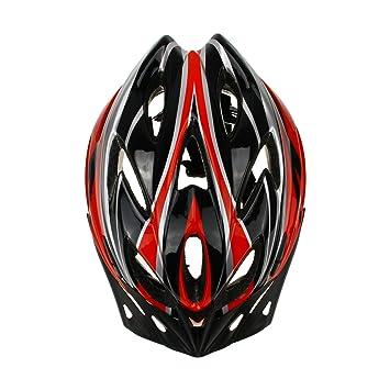 Liying - ligero seguridad ciclismo casco de la bici con extraíble de fibra de carbono unisex adultos, Red-Black: Amazon.es: Deportes y aire libre