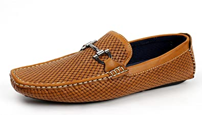 02e6dafc144 JAS Mens Slip On Italian Designer Loafers Driving Shoes Casual Boat  DeckSmart Moccasin (UK 5