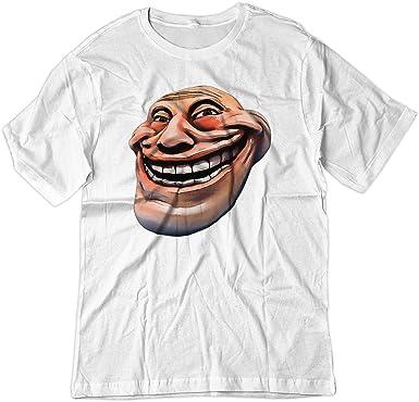 Amazon.com: BSW Youth Troll cara Real Comic tema camisa ...