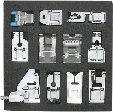 Walmeck Juego DE 11 prensatelas para Máquina de Coser doméstica ...