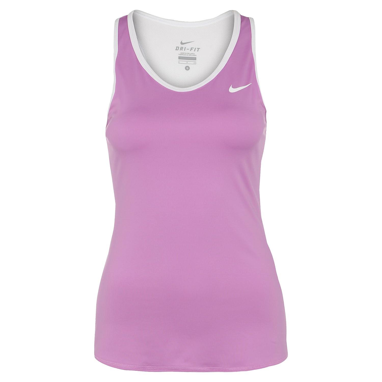Nike Women's Advantage Court Tennis Tank Top Fuchsia Glow / White MEDIUM