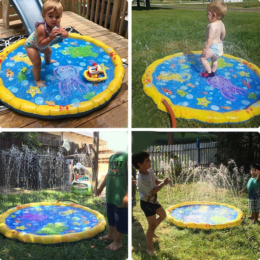 Lome123 Summer Children Play Toy Inflatable Outdoor Water Spray Mat Sprinkler Cushion by Lome123