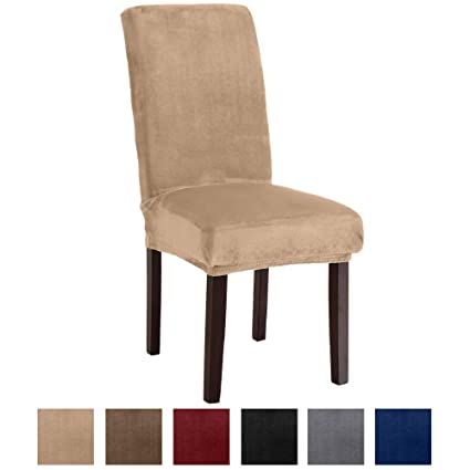 Amazon Great Bay Home Velvet Plush Dining Chair Slipcovers