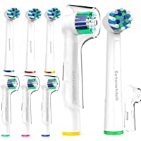 Sensowhite® Oral B Compatible Replacement Electric Toothbrush Heads (8) / variety pack compatible with Oralb CrossAction & Precision Clean