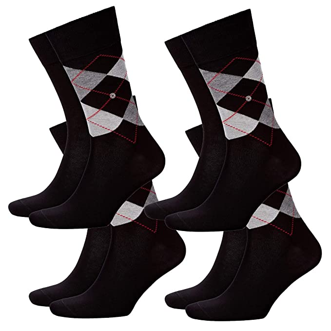 Burlington Everyday Argyle-uni Mix 2er Pack - Calcetines Hombre: Amazon.es: Ropa y accesorios