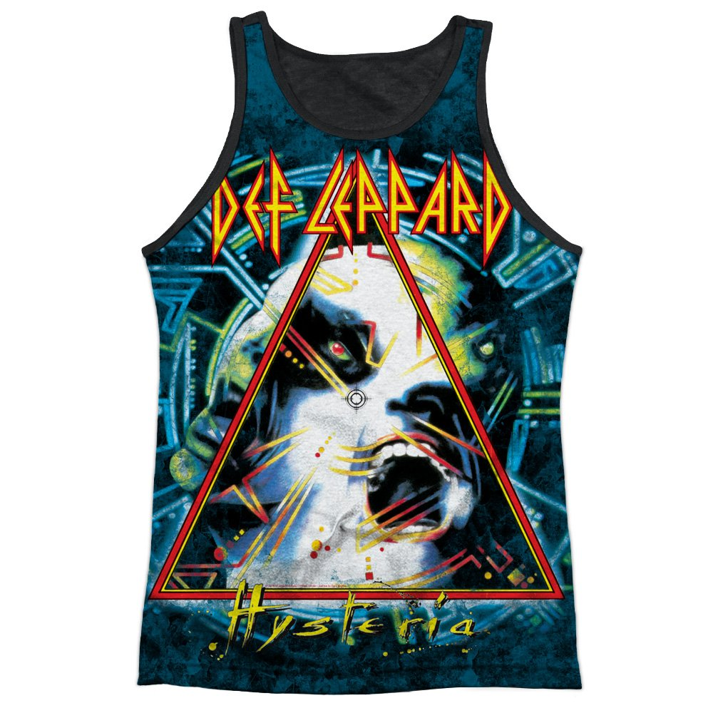 Def Leppard Hysteria Mens Tank Top Shirt with Black Back Trevco