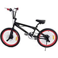 "Ridgeyard Vélo BMX Freestyle 20"" 6 vitesses Rotor System 360°4 chevilles BMX Bike"