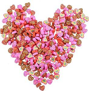 Mialang - 300 gomas de borrar con forma de corazón para San Valentín; suministros para oficina o escuela: Amazon.es: Oficina y papelería