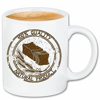"taza para café ""TOSTADA Tostada de la mantequilla pan de trigo panadero panadería CENTENO"