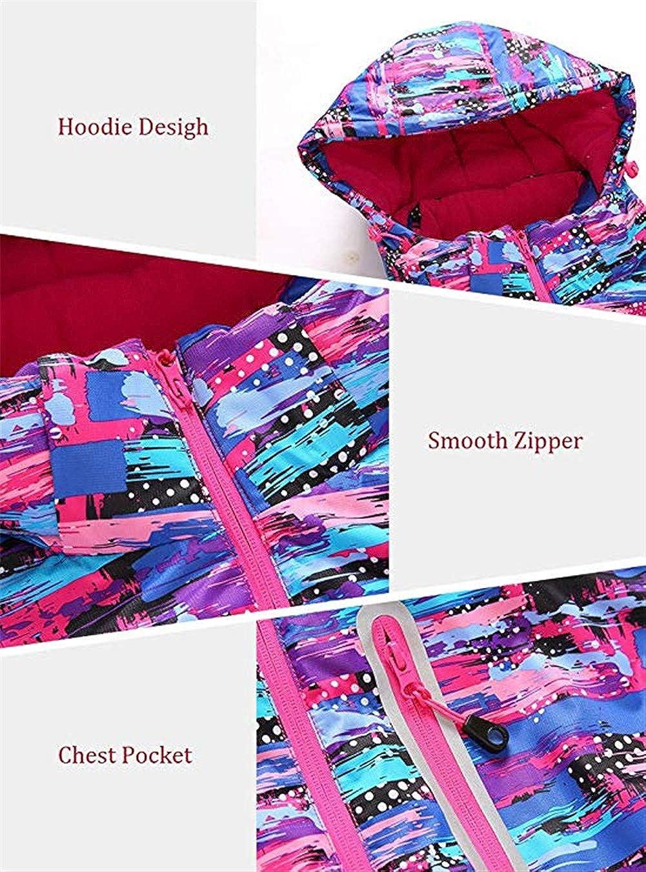Girls Ski Jacket Pants Snow Insulated Suit Windproof /& Waterproof