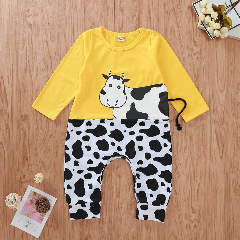 girls romper dungarees baby clothes READY to SHIP Organic cow romper