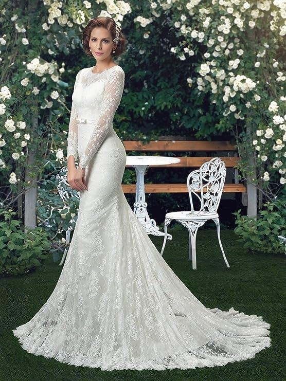 Elegante De Longueur Pour Ebelz Rétro Dentelle Robe Étage Mariage iuPOkZX