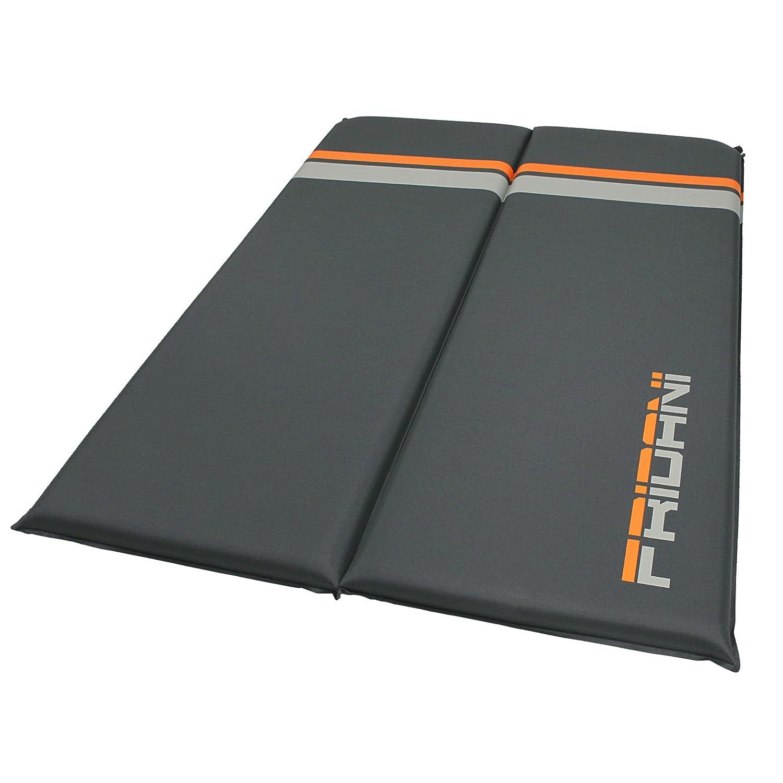 Fridani ISO DUO 700 antislip - Soft-Touch esterilla aislante hinchable, 183x128x7 cm, para 2 personas, 4500g: Amazon.es: Deportes y aire libre