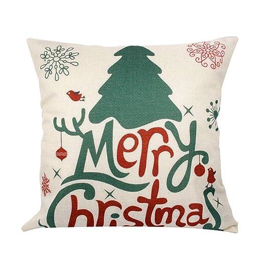 Lote de 2pcs funda cojín azul para Navidad decoración de ...
