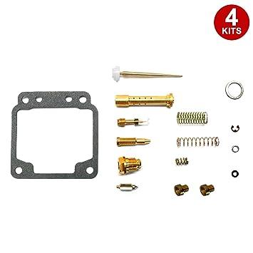 alphamoto 4 x carburador Carb Kit de reconstrucción de reparación Yamaha XJ650 XJ 650: Amazon.es: Coche y moto