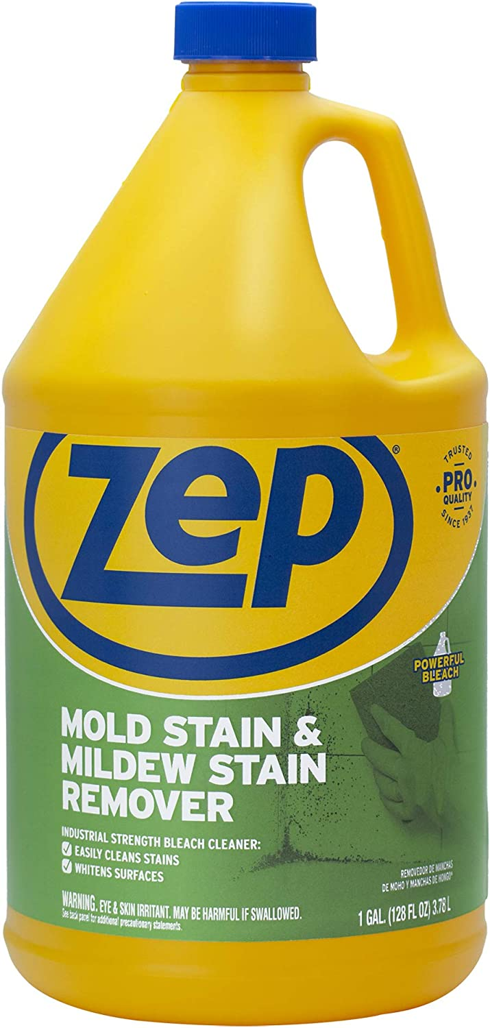 Zep Mold Stain and Mildew Stain Remover 1 Gallon (1 Bottle)