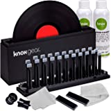 "Knox Vinyl Record Cleaner Spin Kit – Washer Basin, Air Drying Rack, Cleaning Fluid, Brushes and Rollers Dryer and Microfiber Cloths – Washes and Dries 7"", 10"" and 12"" Discs"