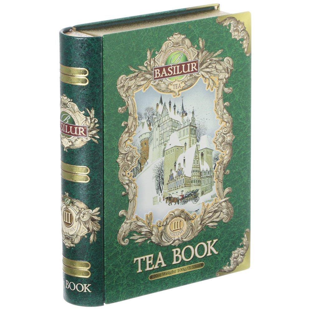 Basilur Tea Book Loose Leaf Tin Caddy Vol III, 100 Gram