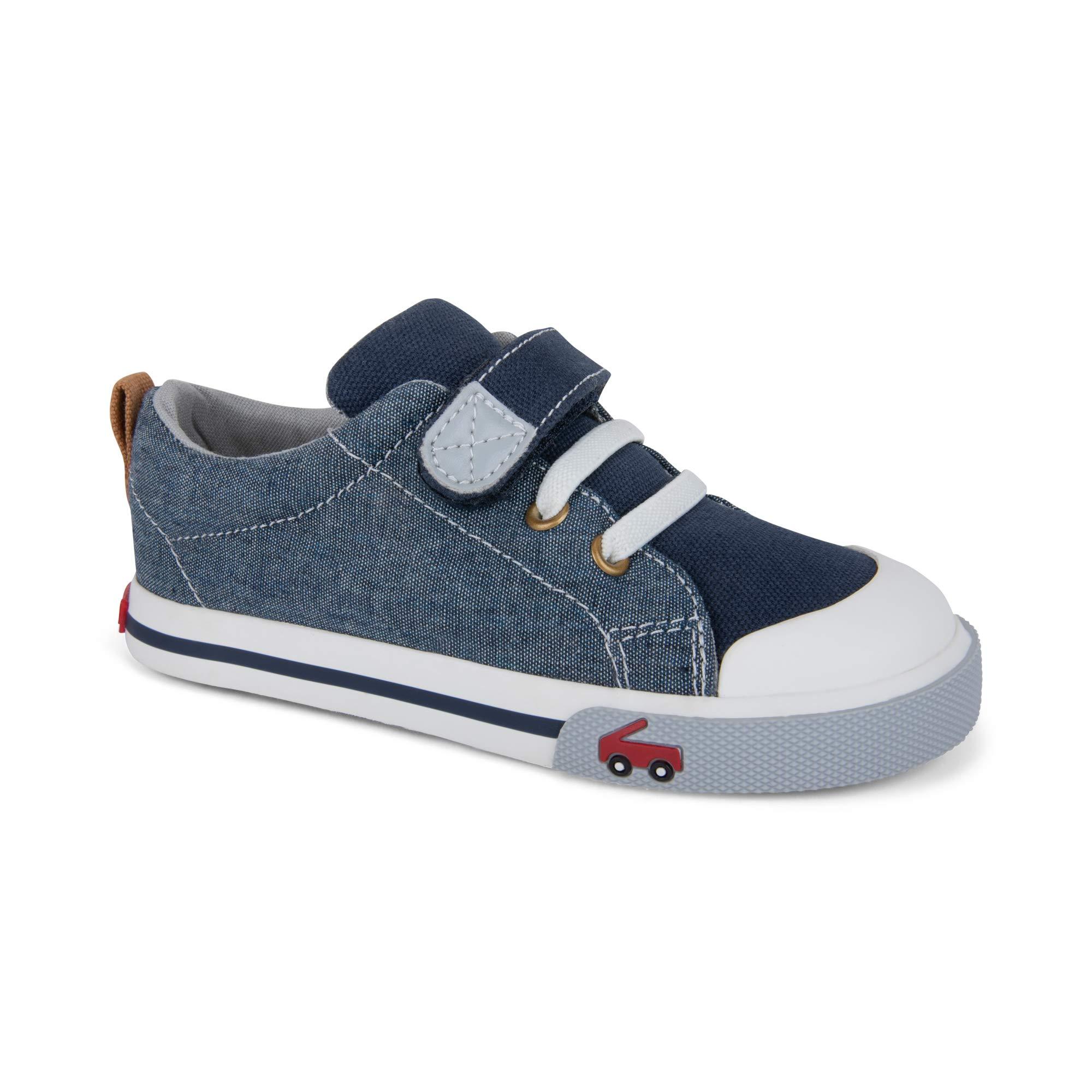 See Kai Run Boy's Stevie II Sneaker, Chambray, 6 M US Toddler