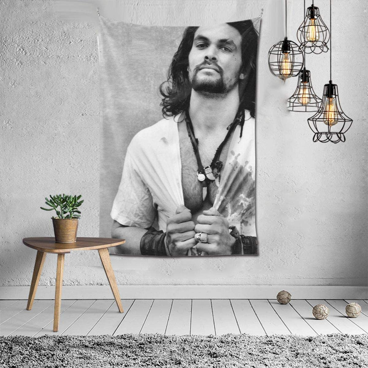 Jason Momoa Tapestry Wall Hanging Tapestry Home Decor Tapestries Wall Art for Living Room Bedroom 60x40In