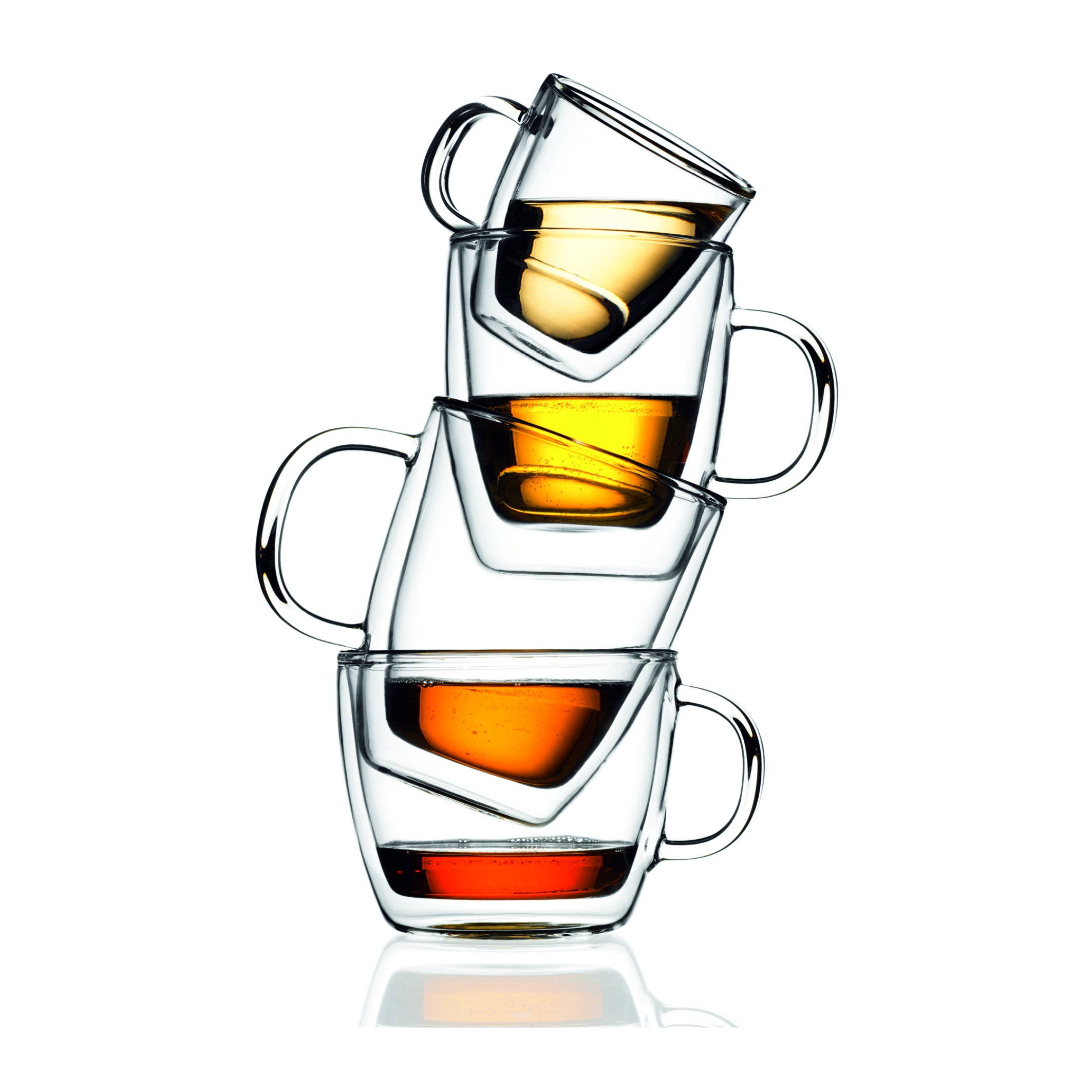 Bodum Bistro Coffee Mugs, Double-Wall Insulated Glass, Clear, 10 Ounces Each (Set of 2) by Bodum (Image #2)