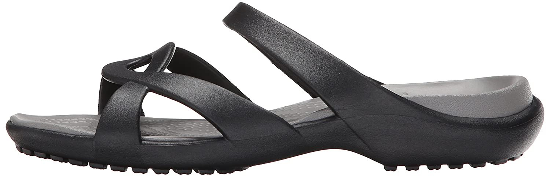 469e456b73fd Sandalia Meleen Twist de Crocs para mujer Humo negro