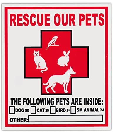 Amazoncom Pack Pet Rescue Window Stickers Decals Alert To - Window alert decals amazon